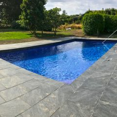 Concrete inground 10x5m pool with under patio cover